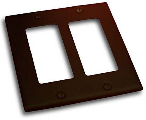 - Residential Essentials 10824VB Double Rocker Switch Plate, 4.5