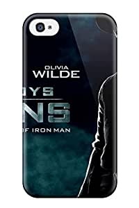 Iphone 4/4s Cowboys And Aliens Movie Print High Quality Tpu Gel Frame Case Cover