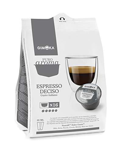 Cápsulas de Café Espresso Deciso Gimoka, Compatível com Dolce Gusto, Contém 16 Cápsulas