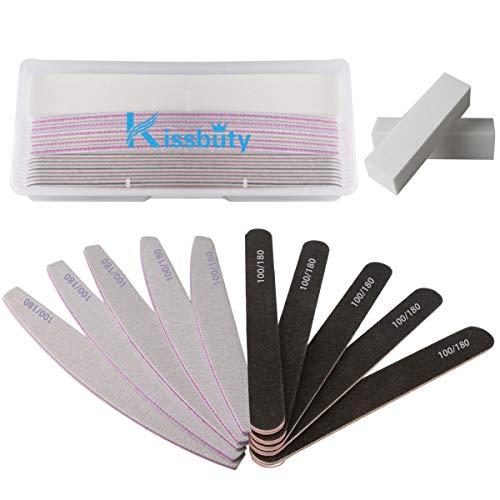 Kissbuty 12PCS/Box Mixed Combination Nail File Cosmetic Manicure