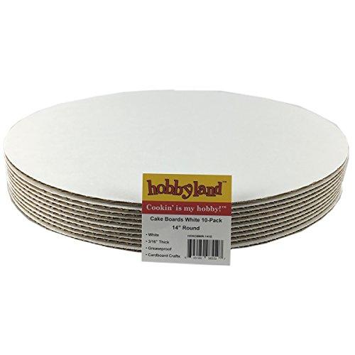 Hobbyland Cake Boards White Circle (14