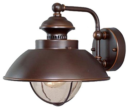 Vaxcel OW21501BBZ Harwich 10-Inch Outdoor Wall Light, Burnished Bronze For Sale