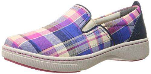 Dansko Belle Blue Madras Canvas Fashion Sneaker