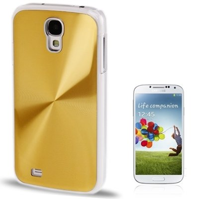 CD Texture Metal Paste Skin Crystal Case for Samsung Galaxy S IV / i9500 (SKU : S-SCS-6065GD) ()