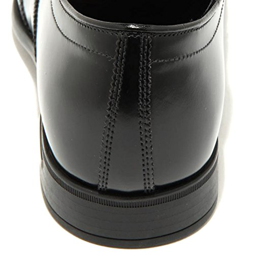 Mejor Libre Al Por Mayor Ofertas 1408G scarpa classica nera marrone PRADA SPAZZOLATO francesina uomo shoes men Nero/Marrone DnxYX7pEHP