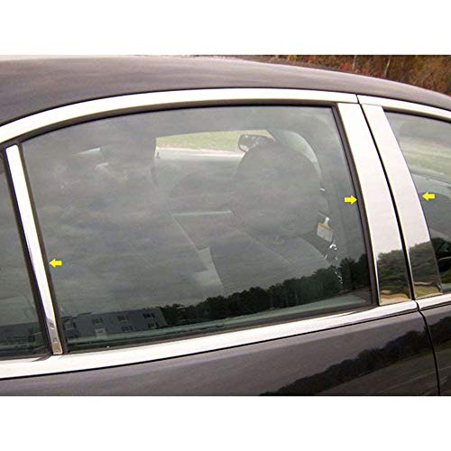 Brighter Design Chrome Pillar Post Trim 6 Piece Kit fit for 13-15 Chevrolet Malibu Limited 4-Door