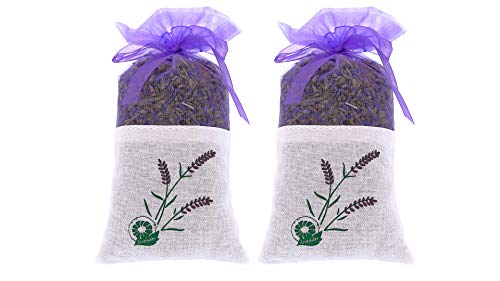 2 bags of 100% Pure Dried Lavender Buds for Closet and Drawers – Natural...