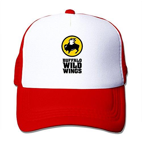 red-hglenice-buffalo-wild-wings-unisex-adjustable-baseball-mesh-cap-one-size