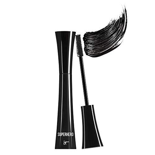 IT Cosmetics Superhero Mascara, Super Black – Elastic Stretch Volumizing & Lengthening Mascara – Lifts, Separates…