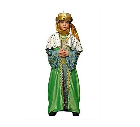Disfraz de Rey Mago Verde para niños en varias tallas: Amazon.es ...