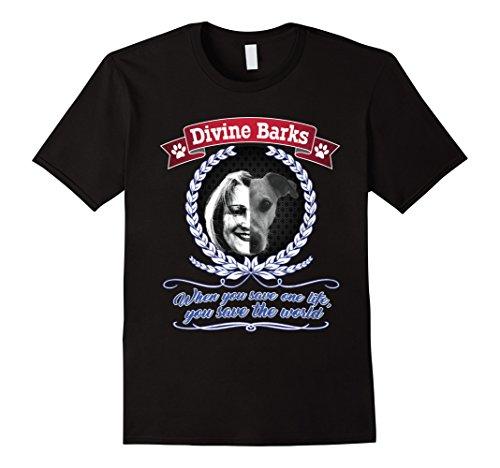 rrier Shirt Divine Barks Dog Rescue T-Shirt XL Black ()