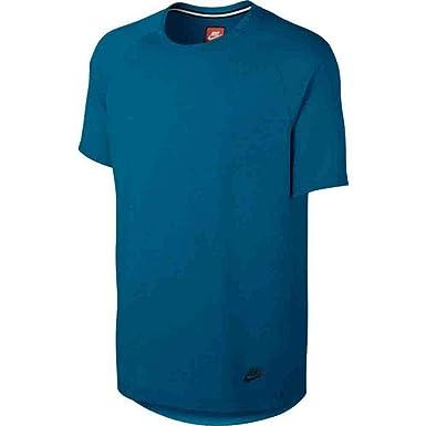 d6aa764b Nike Men's Sportswear Bonded Athletic T-Shirt Industrial Blue Black 832208  457 ...