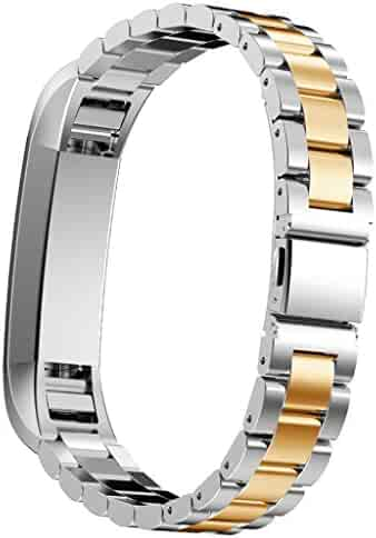 LandFox Stainless Steel Watch Band For Fitbit Alta Smart Watch,Gold #1