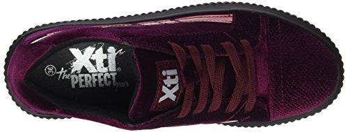 XTI Damen 047537 Low-Top Rot (Bordeauxrot)