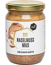 nu3 hazelnootpasta biologisch - 250 g hazelnut spread uit glas - gemaakt van 100% ongebrande hazelnoten - beste rauwkostkwaliteit uit Italië - perfect voor zelfgemaakte chocoladepasta - veganistisch