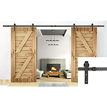 Amazon U Max 13 Ft Double Door Sliding Track Barn Door Sliding