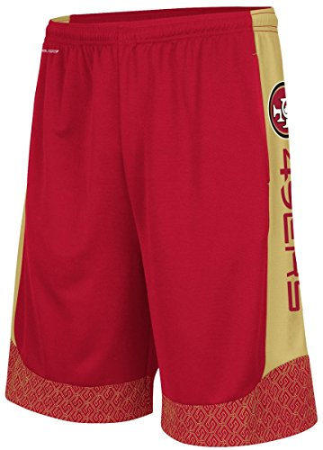 Majestic San Francisco 49ers Mens Crimson Strong Will Synthetic Shorts (M=33-34) (San Coaches Mens 49ers Francisco)