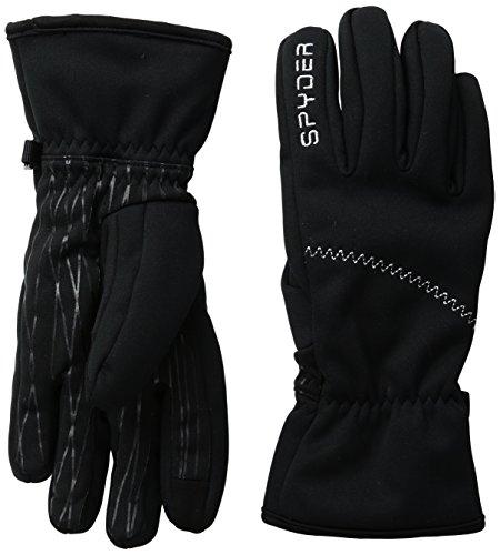 (Spyder Women's Facer Conduct Gloves, Medium, Black)