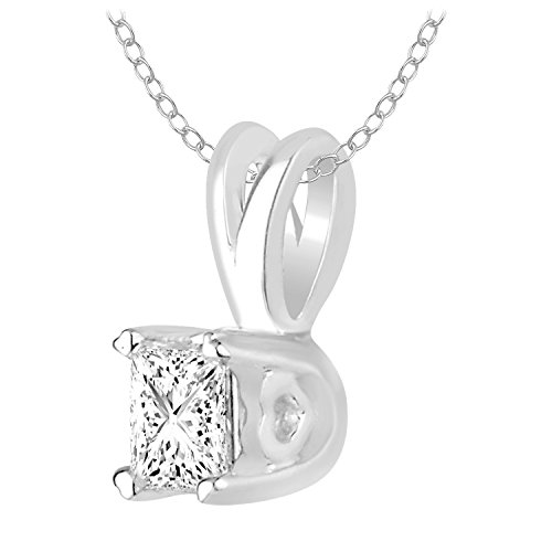 Diamond 14k Square Pendant - 7