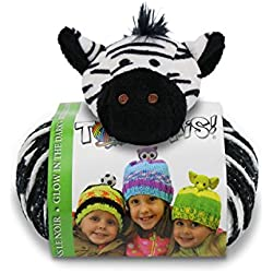DMC Top This Glow In The Dark Zebra Yarn Kit