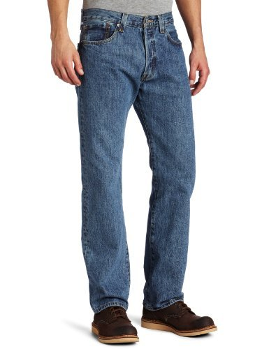 Levi's Men's 501 Original Fit Jean, Medium Stonewash, 35x30