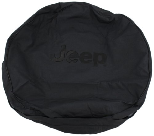 Genuine Jeep Accessories 82209960AC Anti-Theft Tire Cover with Black Jeep Logo