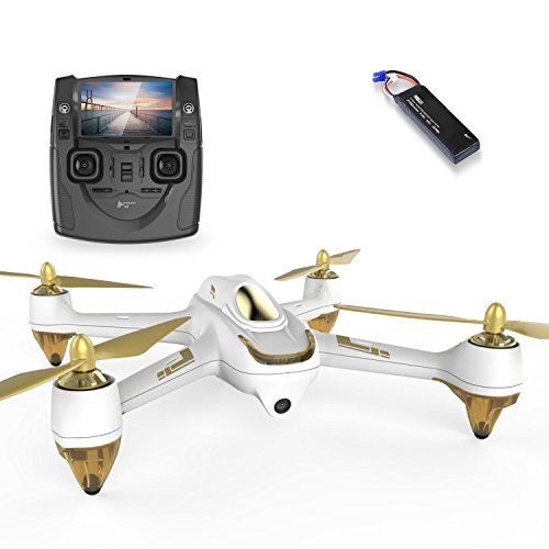 HUBSAN H501SS X4 Drone GPS 4 Channel Altitude Mode 5.8GHz Transmitter 6 Axis Gyro 1080P FPV Brushless Quadcopter Mode 2 RTF ( White)