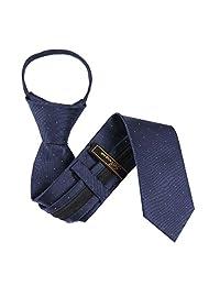 B-ZIP-12004 - Boys Designer Pattern Zipper Necktie
