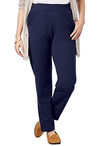 - Women's Plus Size Slim Leg Relaxed Knit Pant