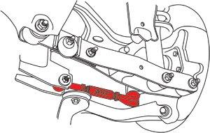 Qty 2 L//R SPC Adjustable Rear Toe Arm kit fits FR-S//BRZ//Impreza//Outback 67655