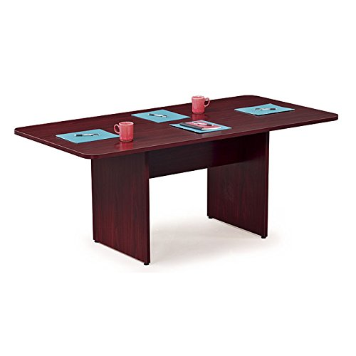 Hon Cherry Table (HON HBLC72R.A1A1 BL Series Conference Table , Rectangle , Flat Edge Profile , Slab Base , 72
