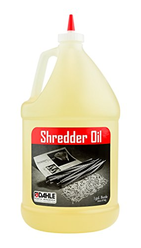 Dahle Shredder Oil Reduces Friction and Optimizes Performance in Paper Shredders, For Use In All Shredders, 4 - 1 gal. Bottles by Dahle