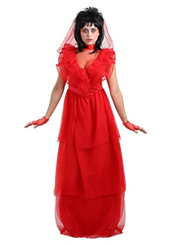 Red Gothic Women's Wedding Dress Costume -