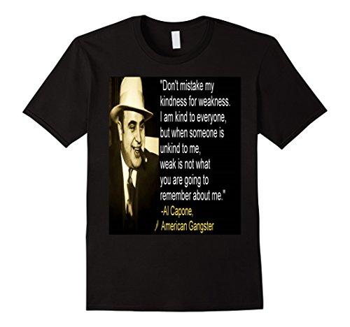 Men's Al Capone Quote T-Shirt XL Black