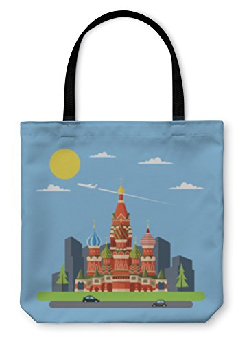 Gear New Shoulder Tote Hand Bag, Flat Design Of Russia Castle, 18x18, 5577298GN by Gear New