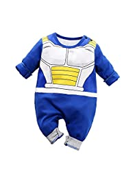 Yierying Baby Clothes Newborn Vegeta Jumpsuits Baby Lovely Long Sleeve Cartoon Romper
