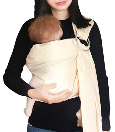 Find Discount Vlokup Baby Ring Sling Carrier for Newborn Original Adjustable Infant Lightly Padded W...
