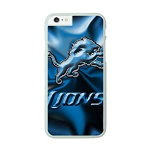 NFL Case Cover For SamSung Galaxy S6 White Cell Phone Case Detroit Lions QNXTWKHE0989 NFL Plastic Protective Phone