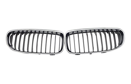 Half Chrome Front Kidney Grille Grill For BMW 3 Series E90 2009-2011