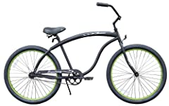 The perfect cruiser for the guy's guy, the 26-inch single-speed Bruiser men's cruiser bike from Firmstrong features a modern look with a more macho feel to it and an elongated frame. A great fit for most men from 5 feet, 4 inches to 6 feet, 4...