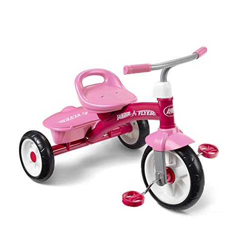 Radio Flyer 421PZ Rider Trike Ride On, Pink (Amazon Exclusive) (Renewed) (Girls Radio Flyer Tricycle)