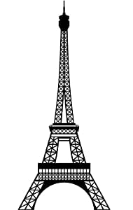Lot 26 Studio Burnish Eiffel Tower Vinyl Wall Decal, 16 x 24-Inches