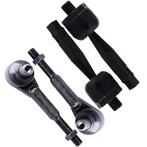 Rod Tie Passat Volkswagen (SCITOO 4pcs Suspension Kit 2 Front Inner 2 Outer Tie Rod End fit for 1996-2008 Audi A4 A6 A8 Quattro RS4 RS6 S4 S6 S8 1998-2005 Volkswagen Passat Ev440 Es3646)