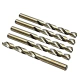 X AUTOHAUX 5pcs 9.8mm High Speed Steel Straight Shank Spiral Twist Drill Bits for Auto Car
