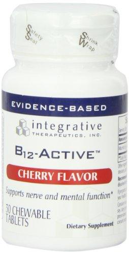 Intégratives Therapeutics, Inc. B12-actifs, Saveur Cerise, 30 comprimés à croquer