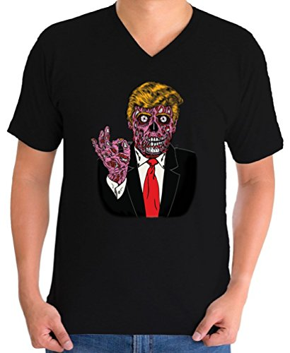 Awkward Styles Men's Zombie Trump V-Neck T Shirts for Men Trump Halloween Costume Trumpkin Black XL]()