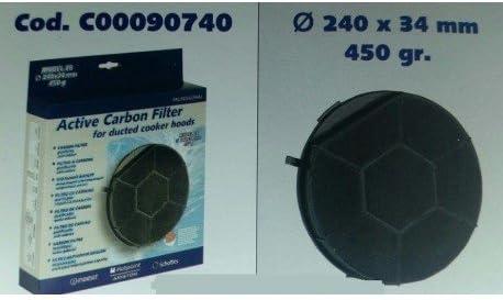 Filtro campana extractora Carbón Activo marca Ariston Franke Turboair Ignis Creda c00090740: Amazon.es: Hogar