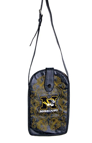 NCAA Missouri Tigers Women's Cross Body Purse, Black, One Size by Gameday Boots