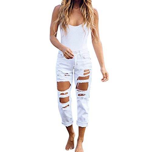 f5a53ca8b4 lovely las mujeres Pantalones Jeans Skinny Rotos Flacos Vaqueros denim  Pantalones leggings