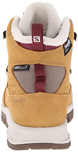 Salomon Women's Utility TS CSWP W Winter Performance Shoe, Beige Leather, 10 B US